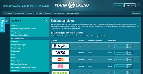 platin paypal online casino zahlungmethoden