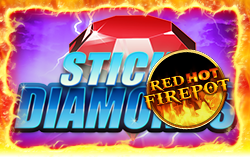 sticky diamond online spielothek red hot firepot logo