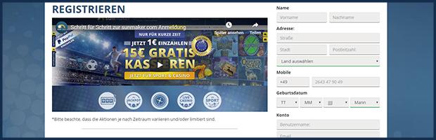 sunmaker paypal online casino registration
