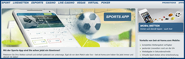 bet at home paypal wettanbieter besonderheit sports app banner