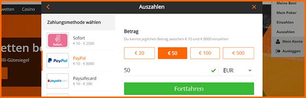 betsson paypal wettanbieter auszahlung mit paypal banner