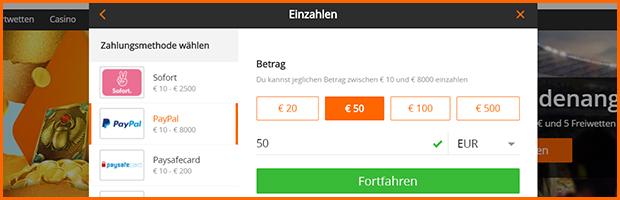 betsson paypal wettanbieter einzahlung mit paypal banner