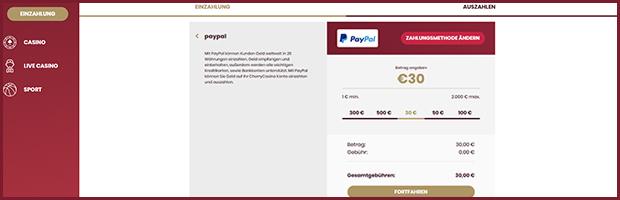 cherry paypal wettanbieter einzahlung mit paypal banner