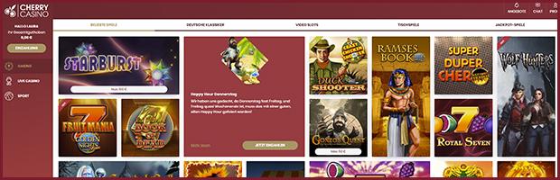 cherry online casino spieleauswahl banner
