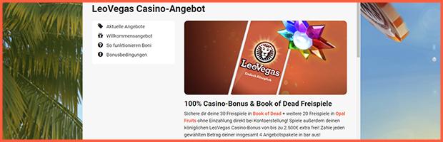 leovegas online casino willkommensangebot banner