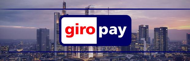 giropay logo auf hintergrund der frankfurter skyline