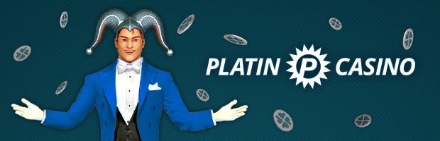 seriöse online casinos platin banner - testimonial platin jack steht neben dem logo. Der Hintergrund ist dunkel blau und platin treuepunkte chips fliegen umher