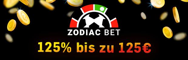 zodiac bet novoline bonus 125% bis zu 125€ banner