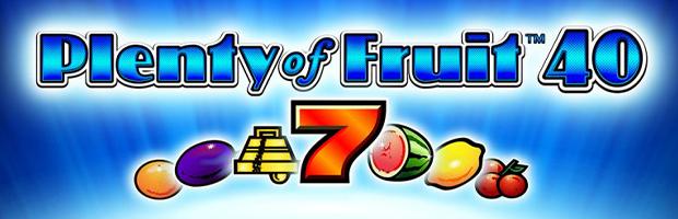plenty of fruit 40 novoline slot logo banner