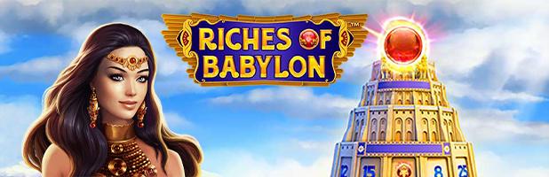 riches of babylon novoline slot logo banner