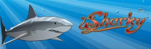 sharky novoline slot logo banner